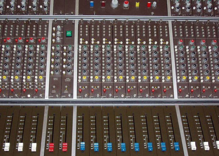 Calrec M Series console - channel / fader section