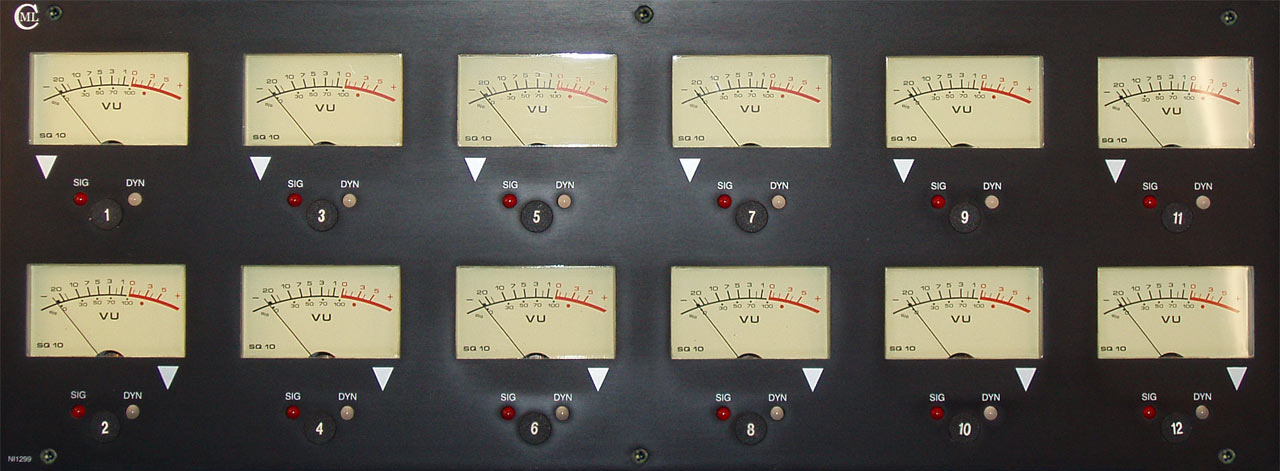 NI1299 Channel Meter Panel (large VU) - front view