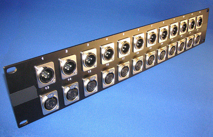 YC1293 Mini-Master Group / Multitrack Send XLR Panel (2U) front