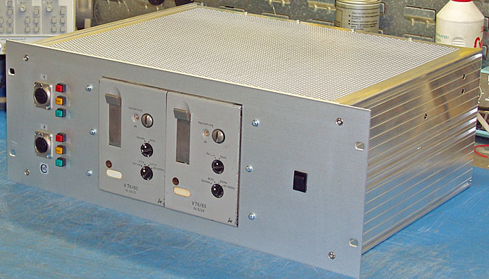 Rack mounted V76s - side view