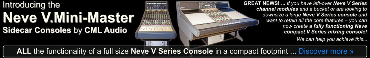 Click to learn more about the Neve V.Mini-Master Sidecar Consoles