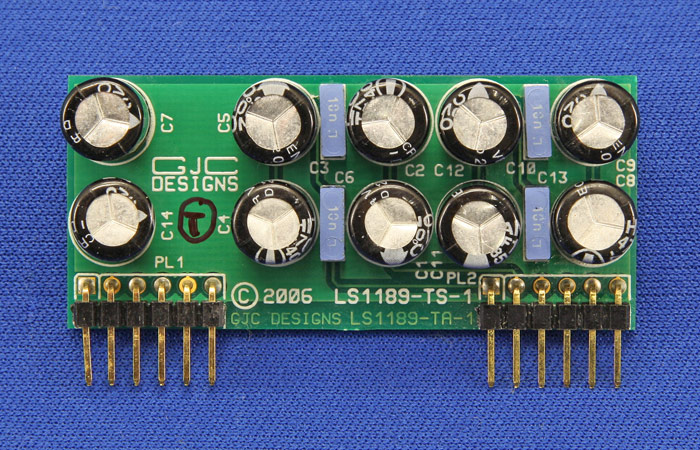 Top View of Dual Balanced Input Card with INA2137 Line Receiver