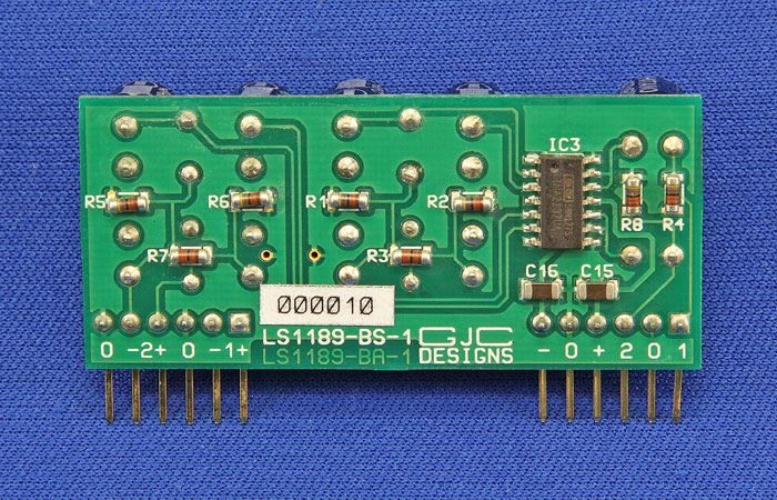 Bottom View of Dual Balanced Input Card with INA2137 Line Reciever